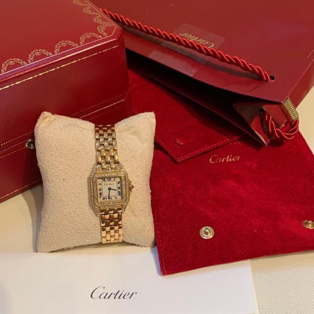 Cartier(カルティエ)のカルティエ クォーツパンテール 腕時計 純正ダイヤ レディースのファッション小物(腕時計)の商品写真