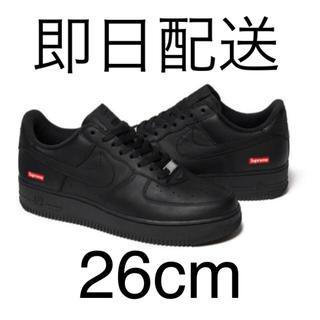 シュプリーム(Supreme)のNIKE SUPREME  AIR FORCE 1 LOW black 26cm(スニーカー)
