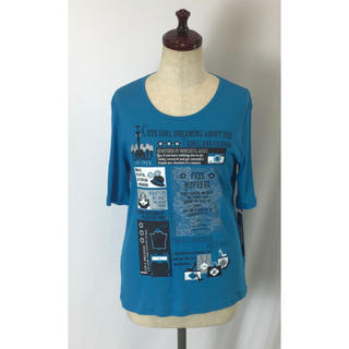 アリエス(aries)の☆新商品☆デザイン Tシャツ 綿100% 日本製 ブルー(Tシャツ(半袖/袖なし))