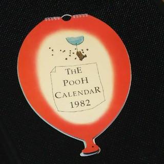 クマノプーサン(くまのプーさん)のTHE POOH CALENDAR 1982年版(カレンダー/スケジュール)