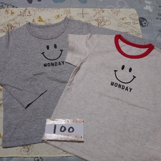 ベルメゾン(ベルメゾン)の【100】キッズ 長袖・半袖Tシャツセット《スマイルMONDAY》(その他)