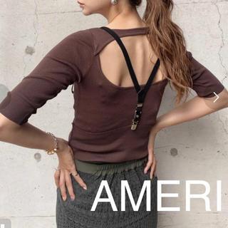 アメリヴィンテージ(Ameri VINTAGE)のAMERI バックオープン サマーニット フリーサイズ(カットソー(半袖/袖なし))
