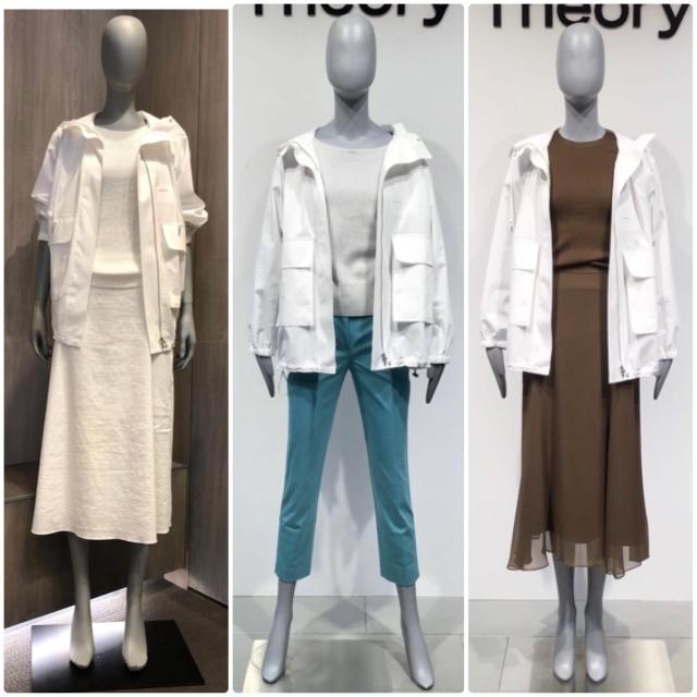 theory(セオリー)のtheory 今季 20SS アノラックジャケット フードブルゾン 白 レディースのジャケット/アウター(ブルゾン)の商品写真