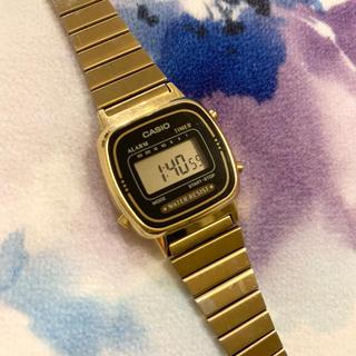 カシオ(CASIO)のCASIO ゴールドデジタルウォッチ(腕時計(デジタル))