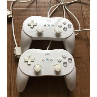 Wii - Wii クラシックコントローラー PRO 白 2個セット