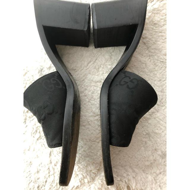 Gucci(グッチ)のGUCCIグッチのミュール(used品)黒6B レディースの靴/シューズ(ミュール)の商品写真