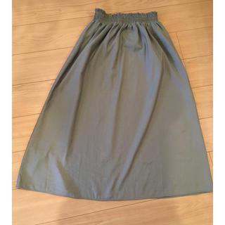フリーズマート(FREE'S MART)のFREE'S MART  カーキ シャーリングギャザースカート フリーサイズ(ロングスカート)