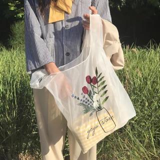 merlot - ▷  Organdy tote bag . / WHITE 🕊