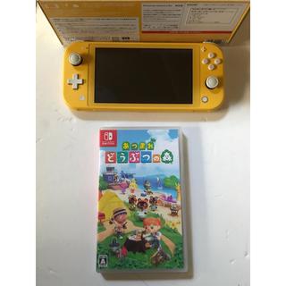 Nintendo Switch - Nintendo Switch Lite イエロー 中古 どうぶつの森ソフト付