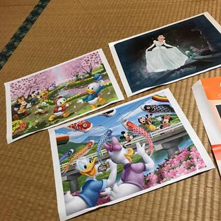 ディズニー(Disney)のディズニーキャラクター アート 3枚(絵画/タペストリー)