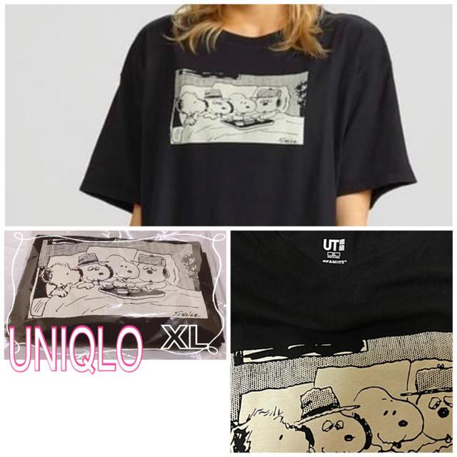 UNIQLO(ユニクロ)のUNIQLO  SNOOPY コラボTシャツ レディースのトップス(Tシャツ(半袖/袖なし))の商品写真