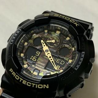 ジーショック(G-SHOCK)のCASIO G-SHOCK GA-100CF 迷彩柄カモフラージュ 美品(腕時計(デジタル))