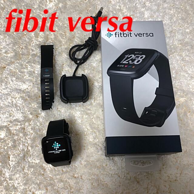 fibit versa スマートウォッチ メンズの時計(腕時計(デジタル))の商品写真
