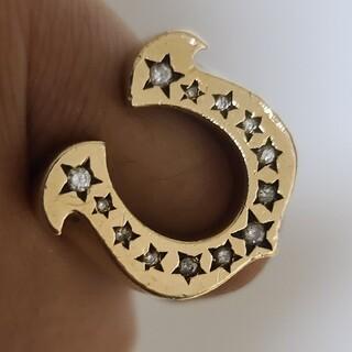 テンダーロイン(TENDERLOIN)の大幅値下げ テンダーロイン ホースシューリング ダイヤモンド 8K キムタク (リング(指輪))