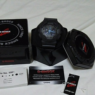 CASIO G-SHOCK GA100C-8A美品、付属品完備(腕時計(デジタル))