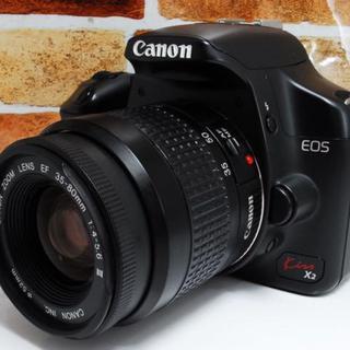 【お手頃価格で本格的に一眼レフ】Canon EOS kiss x2 レンズキット