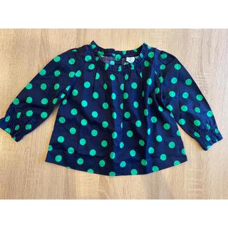 ベビーギャップ(babyGAP)のプリント ラッフルトップス ポルカドット サイズ95(Tシャツ/カットソー)