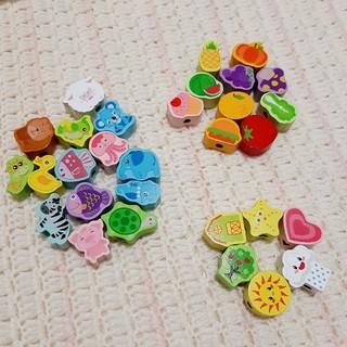 ファミリア(familiar)の木製 ひもとおし 紐通し 知育玩具 モンテッソーリ 七田式 教育 保育 パズル(知育玩具)