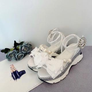 スワンキス(Swankiss)のEV ribbon sandal(サンダル)