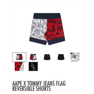 アベイシングエイプ(A BATHING APE)のAAPE TOMMY JEANS FLAG REVERSIBLE SHORTS(ショートパンツ)