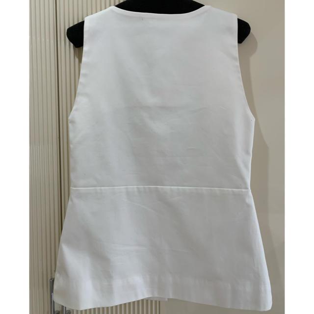 Drawer(ドゥロワー)の新品タグ付❤️THE IRON ノースリーブブラウス レディースのトップス(シャツ/ブラウス(半袖/袖なし))の商品写真