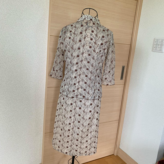 MICHEL KLEIN(ミッシェルクラン)のMICHEL KLEIN 夏 スーツ セットアップ 学校行事  結婚式 二次会 レディースのフォーマル/ドレス(スーツ)の商品写真
