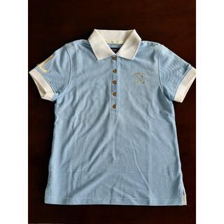 マークアンドロナ(MARK&LONA)の新品未使用!MARK&LONA レディース ポロシャツ M ブルーストライプ(ウエア)