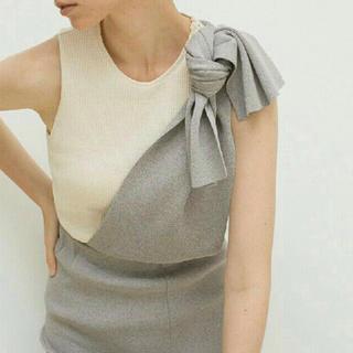 トゥデイフル(TODAYFUL)のLEINWANDE Tie Knit Dress & Skirt / Gray(ロングワンピース/マキシワンピース)