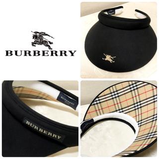 BURBERRY - BURBERRY サンバイザー 未使用 美品✨