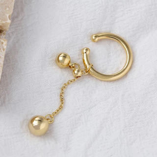 FREAK'S STORE - Ball chain gold earcuff No.413