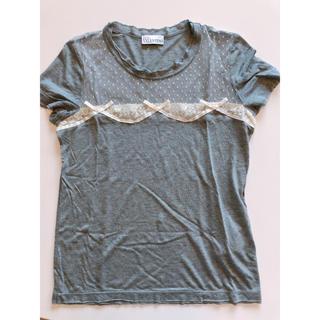 レッドヴァレンティノ(RED VALENTINO)のカットソー Tシャツ リボン レース レッドヴァレンティノ(Tシャツ(半袖/袖なし))
