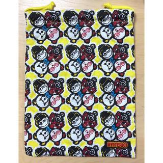 ヒステリックミニ(HYSTERIC MINI)のヒスミニ☆正規品☆新品☆マルチ☆巾着袋☆M☆黄☆シューズバッグ☆キルティング(その他)