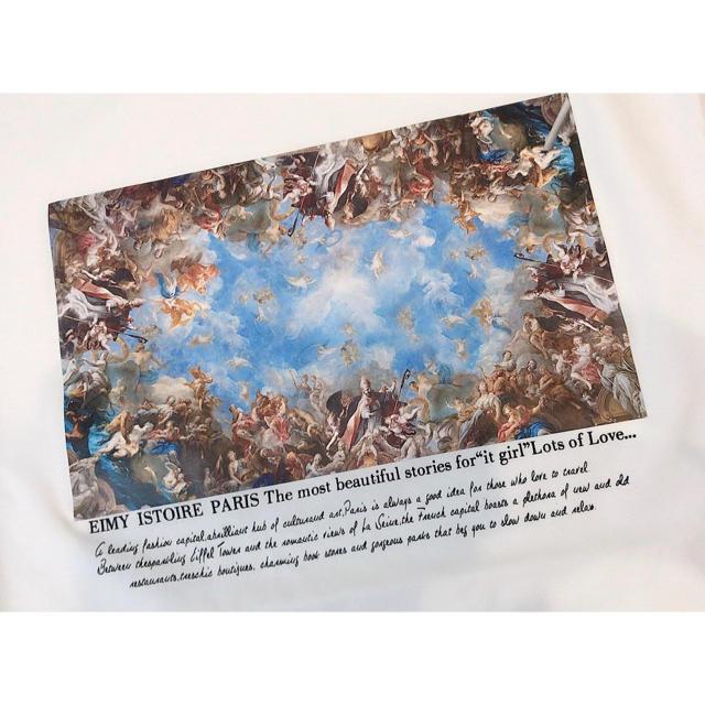 eimy istoire(エイミーイストワール)の新品 eimy Michelangelo art プリント Tシャツ ホワイト レディースのトップス(Tシャツ(半袖/袖なし))の商品写真