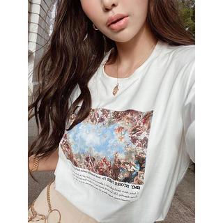 eimy istoire - 新品 eimy Michelangelo art プリント Tシャツ ホワイト