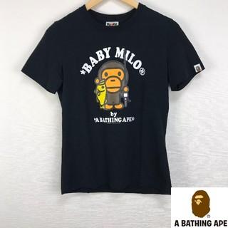 アベイシングエイプ(A BATHING APE)の美品 アベイシングエイプ 半袖Tシャツ ブラック サイズS(Tシャツ/カットソー(半袖/袖なし))