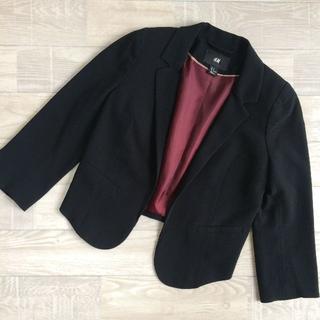 エイチアンドエム(H&M)の【H&M】テーラードジャケット ブラック EUR34 Sサイズ(テーラードジャケット)