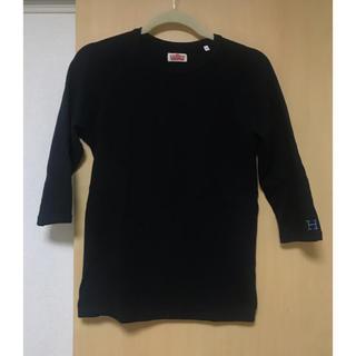 ハリウッドランチマーケット(HOLLYWOOD RANCH MARKET)のハリウッドランチマーケット 黒丸首 七分袖(Tシャツ/カットソー(七分/長袖))