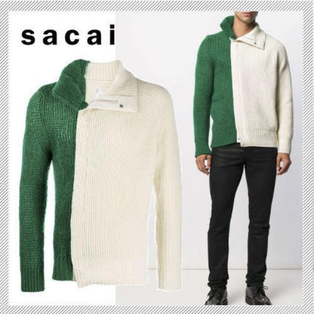 sacai(サカイ)のsacai バイカラーニット メンズのトップス(ニット/セーター)の商品写真