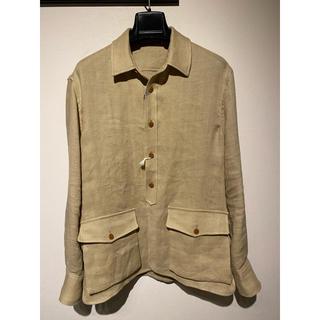 LARDINI 17SS リネン サファリ シャツジャケット size 48