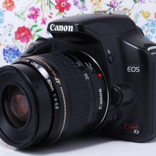 キヤノン(Canon)の◆可愛いフォルム◆★Canon kiss x2 レンズセット(デジタル一眼)