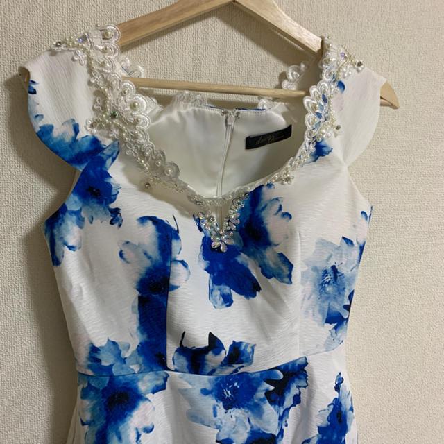 dazzy store(デイジーストア)のdazzy queen  ブルーフラワードレス キャバドレス レディースのフォーマル/ドレス(ナイトドレス)の商品写真