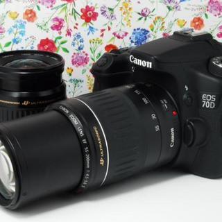 キヤノン(Canon)の☆超高画質カメラ☆Canon 70D ダブルレンズセット キャノン(デジタル一眼)