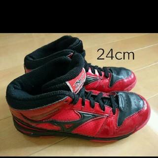 ミズノ(MIZUNO)のミズノ ルーキー BB4 バスケットボールシューズ ジュニア 24cm(バスケットボール)