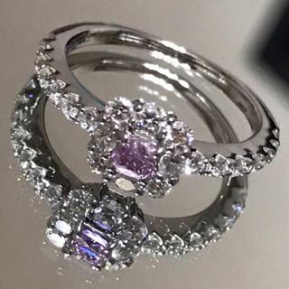 プラチナ900 ファンシーインテンスピンクパープルダイヤモンドリング