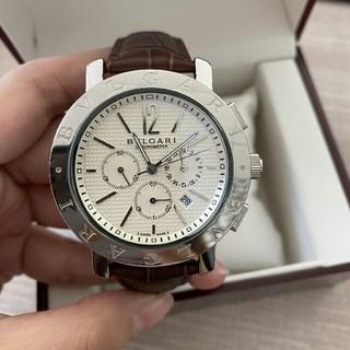 ブルガリ(BVLGARI)のブルガリ メンズ腕時計  ステンレス シルバー クロノグラフ(腕時計(アナログ))
