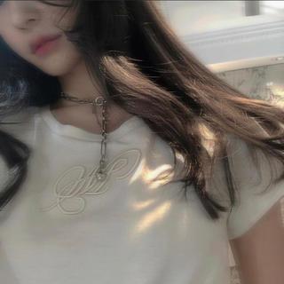 バブルス(Bubbles)のmelt the lady Tシャツ(white×white)(Tシャツ/カットソー(半袖/袖なし))