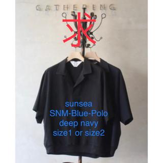 サンシー(SUNSEA)のsunsea SNM-Blue-Polo(ポロシャツ)