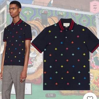 Gucci - Gucci メンズポロシャツ ビー刺繍入り