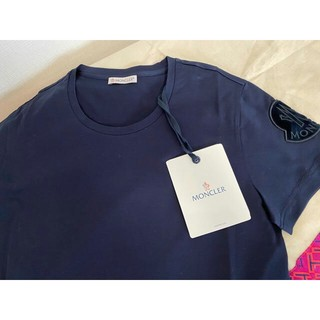 MONCLER - Moncler モンクレール Sサイズ ロゴパッチTシャツ ネイビー
