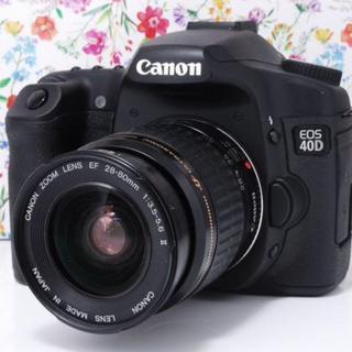 キヤノン(Canon)の◆高級感溢れる◆Canon EOS 40Dレンズセット(デジタル一眼)